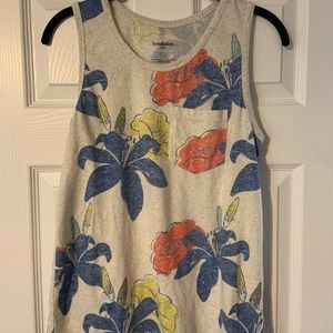 Men's Floral Tank Size Small